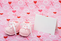 Baby Shower Message Royalty Free Stock Image