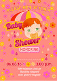 Baby shower message card Royalty Free Stock Images