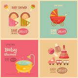 Baby Shower Mini Postes Royalty Free Stock Image