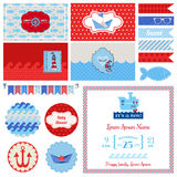Baby Shower Nautical Set Royalty Free Stock Photography
