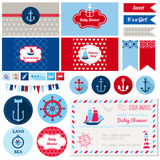 Baby Shower Nautical Theme Stock Image