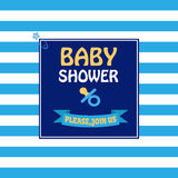 Baby Shower Navy Style Card Front Stock Photography