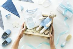 Baby Shower newborn gifts celebration royalty free stock photos