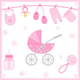 Baby Shower objects Stock Photography