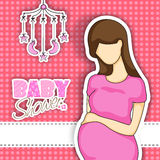 Baby shower party celebration card. Royalty Free Stock Images