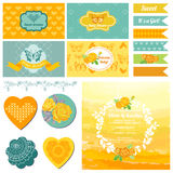 Baby Shower or Party Set Royalty Free Stock Image