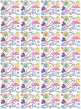 Baby Shower Pattern Background Royalty Free Stock Photography