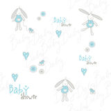 Baby shower pattern Royalty Free Stock Photo