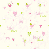 Baby shower pattern Royalty Free Stock Image