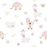 Baby shower pattern Royalty Free Stock Images
