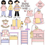 Baby Shower Pink Clipart Royalty Free Stock Photography