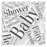 Baby shower planning word cloud concept  background Stock Image