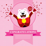 Baby Shower Polar Bear. This is baby shower greetings. Vector format Stock Photo