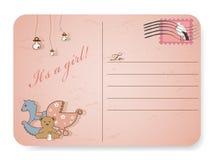 Baby shower postcard Stock Photo