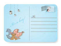 Baby shower postcard Stock Image