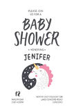 Baby shower poster Stock Photography