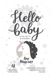 Baby shower poster royalty free stock images