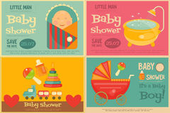 Baby Shower Posters Stock Image
