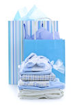 Baby shower presents Stock Image