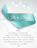 Baby Shower ribbon Royalty Free Stock Images