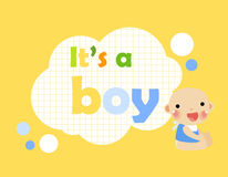 Baby shower-It's a boy Stock Images