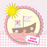Baby shower scrapbooking card design.  illustration Royalty Free Stock Images
