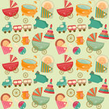 Baby Shower Seamless Background Royalty Free Stock Photography