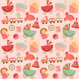 Baby Shower Seamless Background Royalty Free Stock Photos