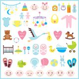 Baby shower set Royalty Free Stock Images