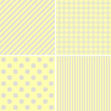 Baby shower: set of  baby backgrounds. Royalty Free Stock Images