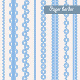 Baby shower set of border for boy. Baby shower set of border for design of  paper, cards. For boy Royalty Free Stock Photo