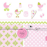 Baby shower - Set of design elements Stock Image