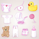 Baby shower set Royalty Free Stock Photo