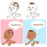 Baby shower set. royalty free illustration