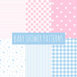 Baby shower: set of vector backgrounds. Stock Photo