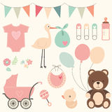 Baby Shower Set. A Vector Illustration of Baby Shower Set Stock Photography