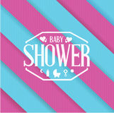 Baby shower sign color lines background Royalty Free Stock Photography