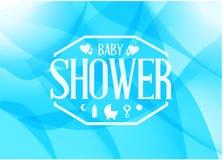 Baby shower sign illustration design Stock Images