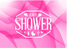 Baby shower sign illustration design Stock Images