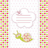 Baby shower with snail. Baby shower with funny snail Stock Images