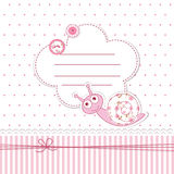Baby shower with snail. Baby shower with funny snail Stock Photos