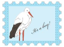Baby shower stamp Royalty Free Stock Images
