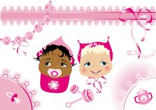 Baby shower stationary stock photography