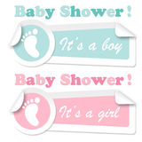 Baby shower stickers Stock Photos