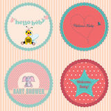 Baby Shower Stickers Royalty Free Stock Image