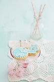 Baby shower sugar coolies. Sugar cookies for a baby shower stock photography