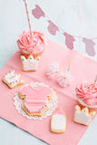 Baby shower sweet table Stock Photo