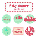 Baby shower table set Stock Photo