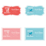 Baby Shower Template Cards Illustration Editable Royalty Free Stock Image