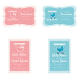 Baby Shower Template Cards Illustration Editable Stock Photography